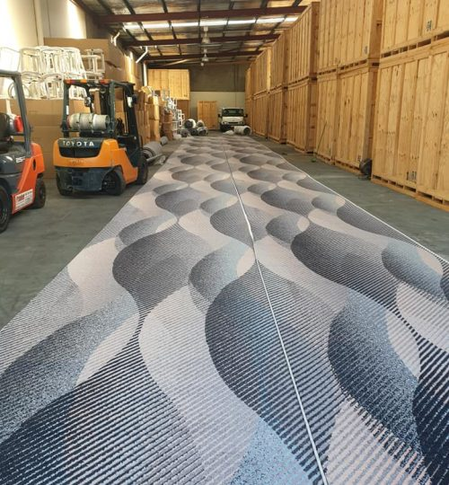 designer jet-novotel hotel-carpet connect-warehouse-installation