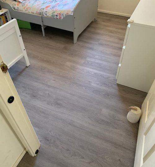 luxury vinyl-pine mist-carpet connect-installation-bedroom