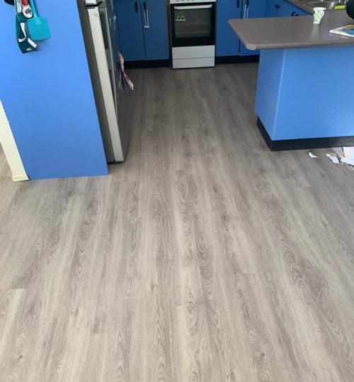 luxury vinyl-pine mist-carpet connect-installation-kitchen